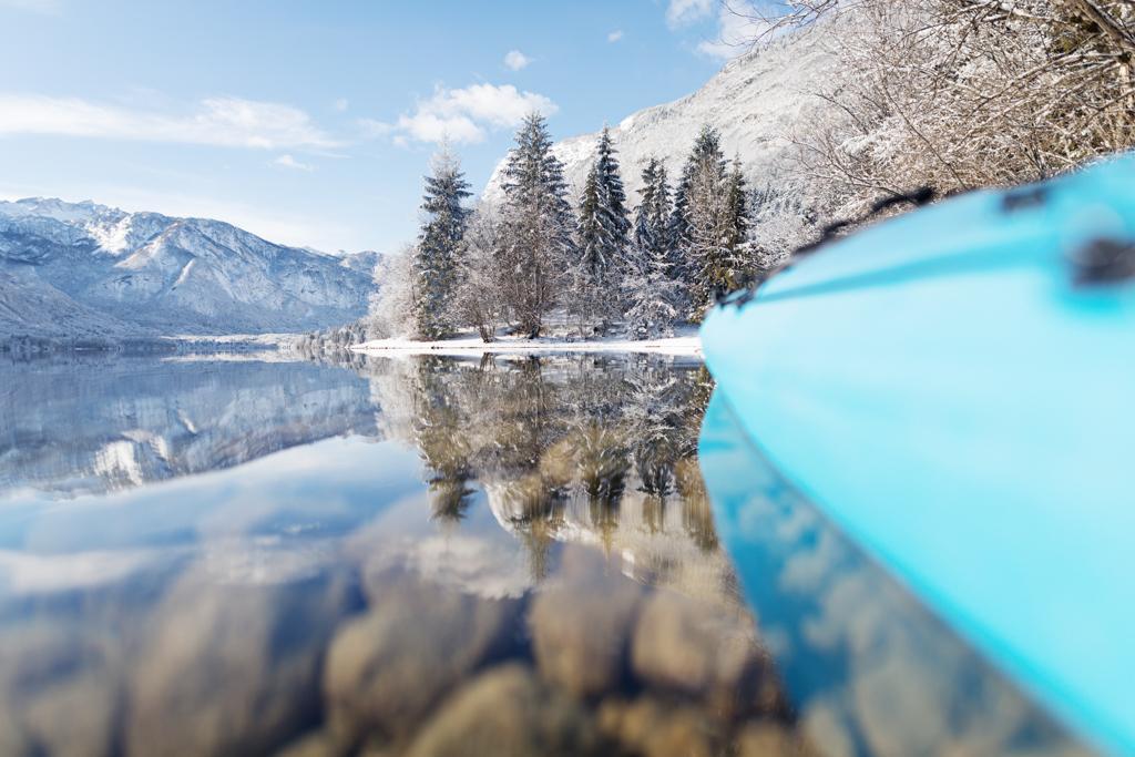 Kajak Bohinjsko jezero Kayaking lake bohinj (1)