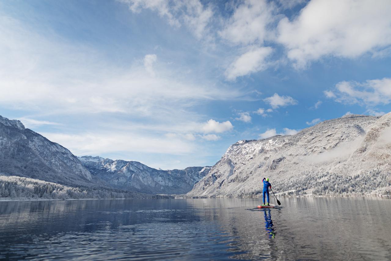 Kajak Bohinjsko jezero Kayaking lake bohinj (10)